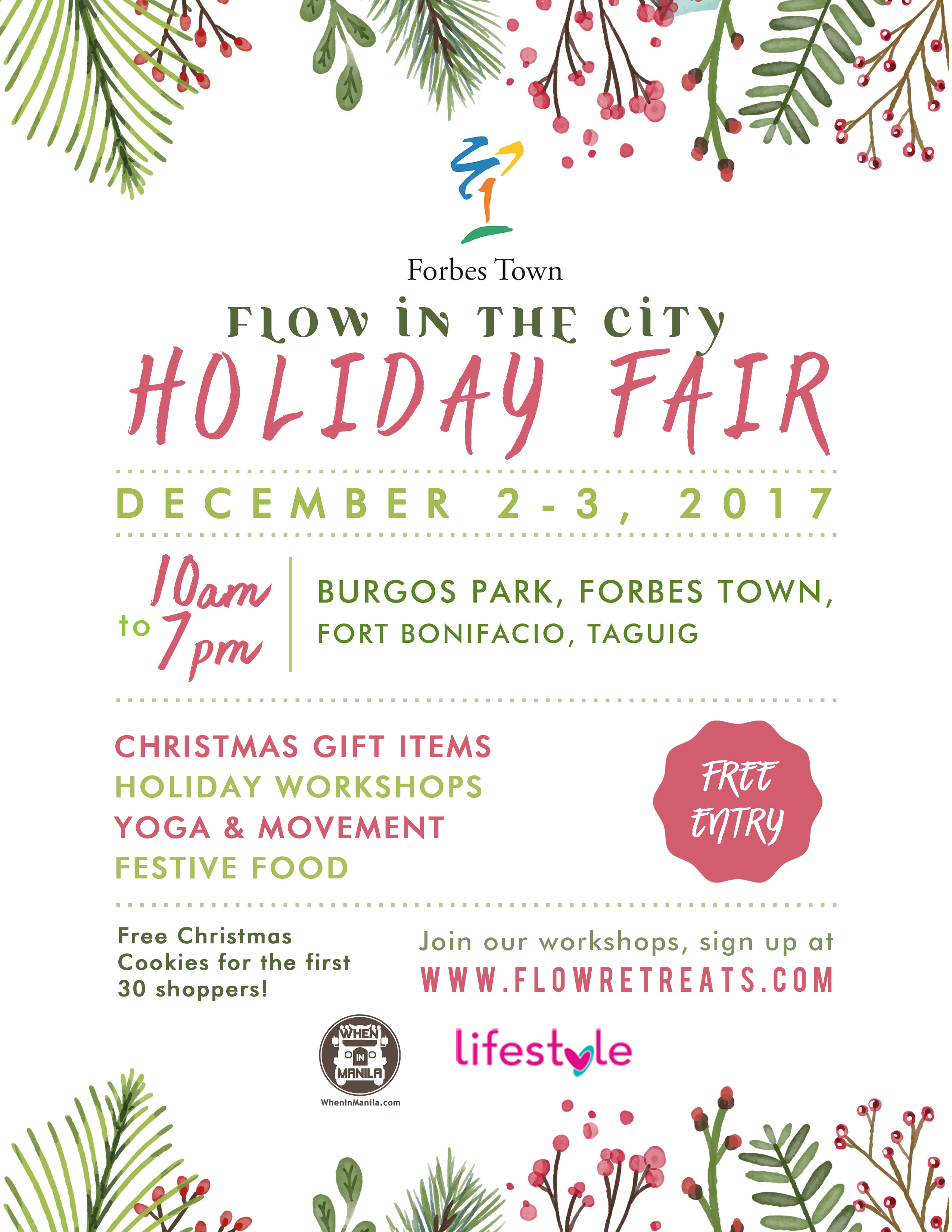 Events happening this weekend december 1 3 2017 philippine primer happening this december 2 to 3 2017 flow in the city holiday fair lets you in on an exciting wellness market journey as various goods and activities await stopboris Gallery