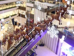 The Great Yuletide Escapade brings Santa's Reindeers to the Shang