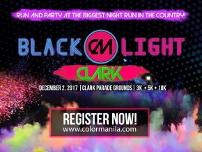 ColorManila's CM Blacklight Run on December 2, 2017