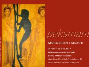 Peksman! by Marco Malto on November 26 to December 15, 2017