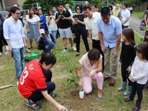 Tree Planting Day at Singapore Embassy