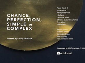 Chance, Perfection, Simple or Complex? Group Show curated by Tony Godfrey