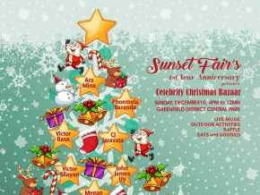 Sunset Fair celebrates their first anniversary with a Celebrity Christmas Bazaar