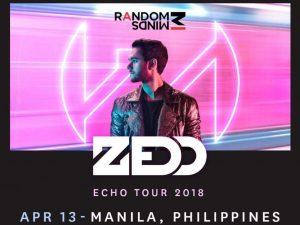 Zedd returns to Manila on April 13, 2018 @ Quezon City   Metro Manila   Philippines