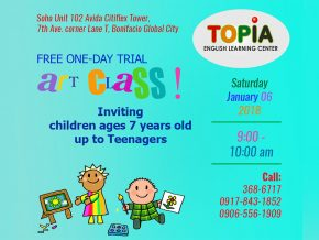 Free One-Day Trial Art Class at Topia BGC