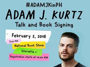 Adam J. Kurtz Talk and Book Signing Tour in Manila
