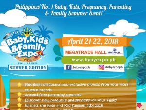 7th Baby, Kids & Family Expo Summer Edition on April 21 @ Philippines