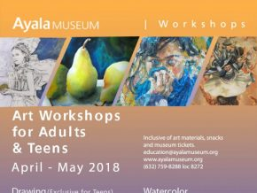 Art Workshops for Adults and Teens in Ayala Museum
