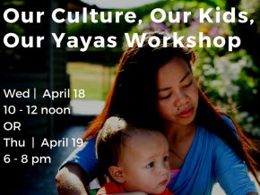 Our Culture, Our Kids, Our Yayas Workshop