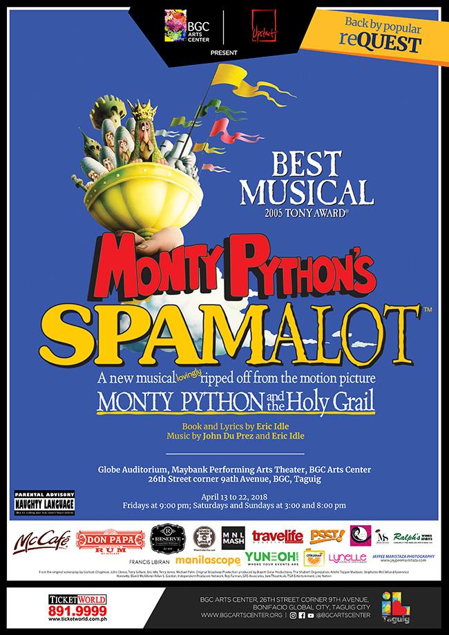 Monty Python's SPAMALOT 2018 @ Globe Auditorium   Taguig   Metro Manila   Philippines