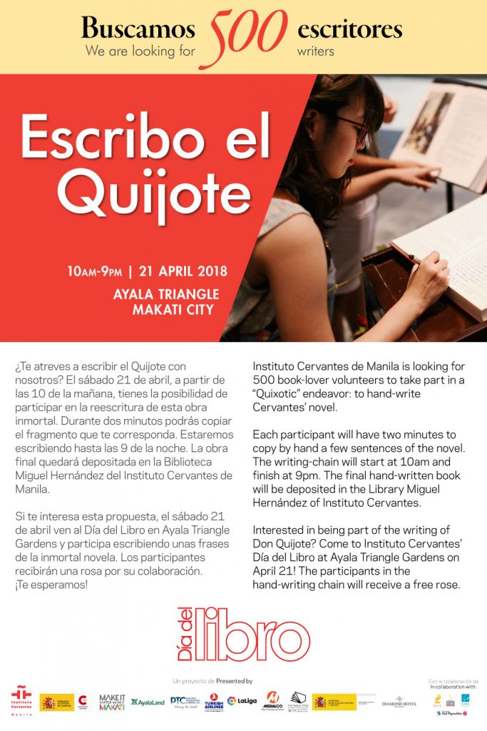 3bd7472fb7ed2 Instituto Cervantes is challenging visitors to join a Quixotic attempt: to  copy Don Quixote de La Mancha by hand. Among the events organized by  Instituto ...