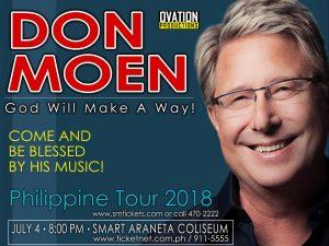 Don Moen: God Will Make A Way Philippine Tour 2018: Manila Leg @ Smart Araneta Coliseum | Quezon City | Metro Manila | Philippines