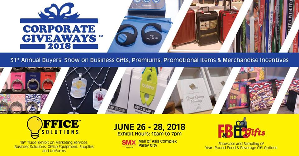 Corporate Giveaways Now On Its St Year As The Philippines - Car show promotional items