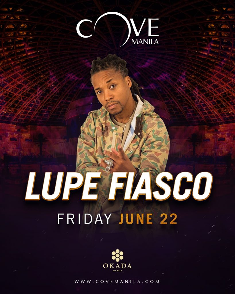 Lupe fiasco at cove manila this june philippine primer this month they are bringing back one of hip hops most prominent artists lupe fiasco catch him for a night of intense partying and dropping beats on m4hsunfo