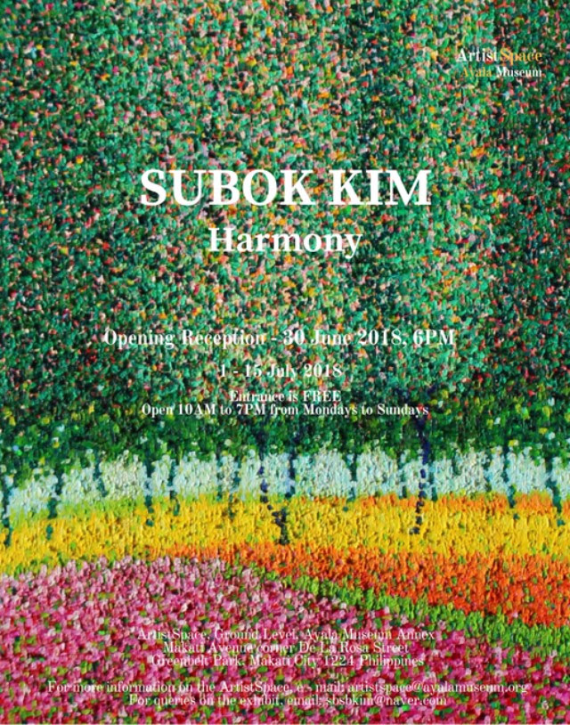 Corner Exhibition Stands Harmony : Harmony by su bok kim a pointillism view of nature philippine