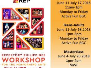 Repertory Philippines: 2018 Summer Workshop!