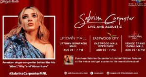 Sabrina Carpenter in Manila: Live and Acoustics @ Uptown Bonifacio Mall, Eastwood Mall Open Park and Venice Grand Canal Mall