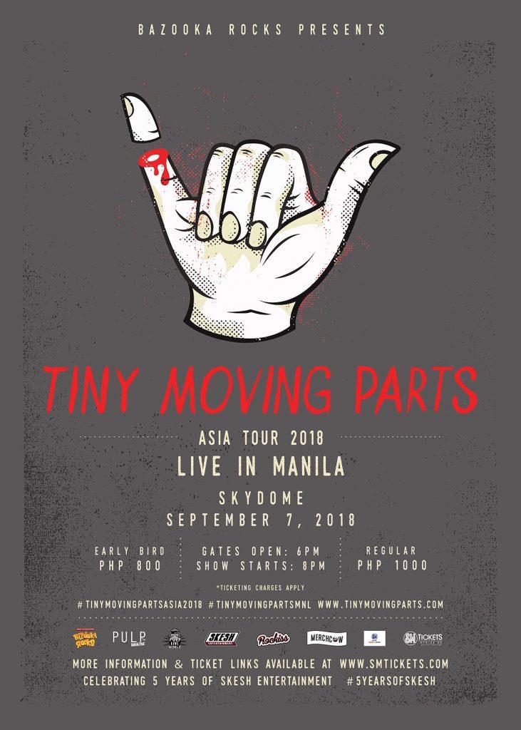 Tiny Moving Parts: Asia Tour 2018 Live in Manila @ Skydome | Quezon City | Metro Manila | Philippines