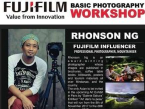 Basic Photography Workshop by Rhonson Ng this August 4, 2018