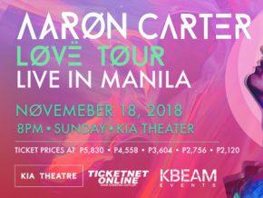 Aaron Carter: LØVË Tour in Manila!