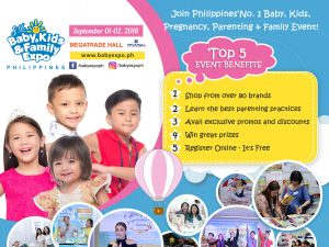 8th Baby, Kids, and Family Expo PH @ Megatrade Hall | Philippines
