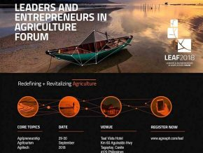 Leaders and Entrepreneurs in Agriculture Forum this September 29-30, 2018