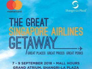 Singapore Airlines Travel Fair @ Shangri-La Plaza, Grand Atrium | Mandaluyong | Metro Manila | Philippines