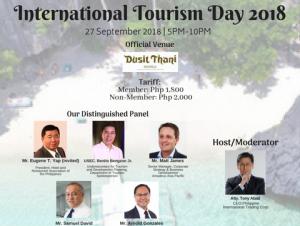 International Tourism Day 2018 this September 27 @ Dusit Thani Manila | Makati | Metro Manila | Philippines