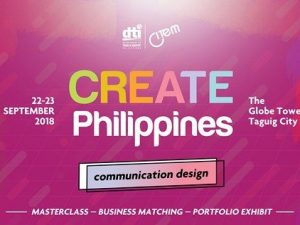 Create Philippines 2018 To Feature Communication Design Masterclass, Workshops, and More