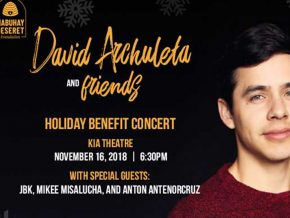 David Archuleta and Friends: Holiday Benefit Concert on Nov 16!