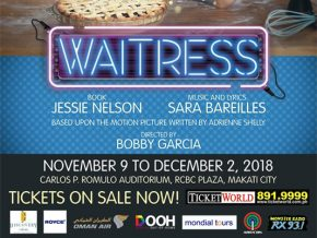 Waitress The Musical To Start Its Run on November 2018!