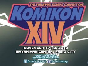 Komikon Grande 2018 All Set This November 17-18