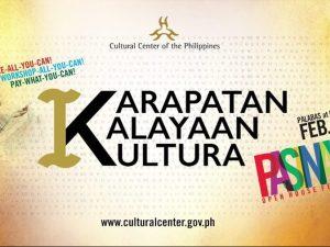 CCP's Pasinaya Open House 2019 To Highlight Karapatan, Kalayaan at Kultura @ Cultural Center of the Philippines