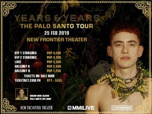 Years and Years: The Palo Santo Tour at New Frontier Theater @ New Frontier Theater