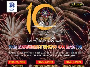 Catch the 10th Philippine International Pyromusical Competition 2019 Starting February 23