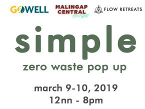 Simple: Zero Waste Pop Up, A Two-Day Eco-Friendly Market On March 9 to 10