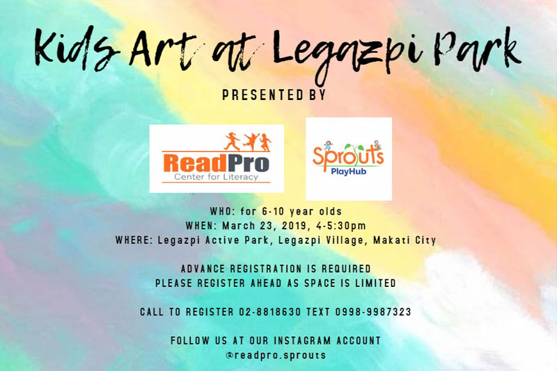 Kick Off Summer With Kids Art At Legazpi Park This March 23