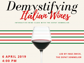 Demystifying Italian Wines: Interactive Class with The Expat Sommelier