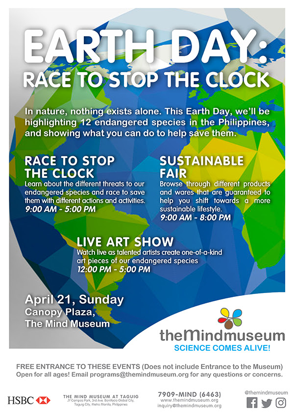 The Mind Museum's Earth Day: Race to Stop the Clock Is