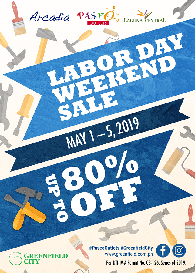 Promo Labor Day Weekend Sale At Greenfield City Philippine Primer