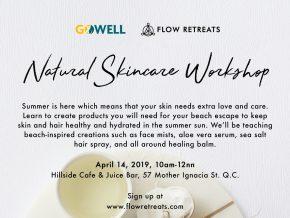 Flow Retreats Presents Natural Skincare Workshop This April 14