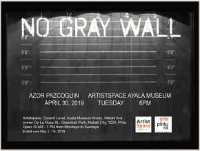 No Gray Wall: A Solo Exhibition of Azor Pazcoguin at ArtistSpace