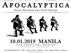 Finnish Band Apocalyptica Plays Metallica by Four Cellos LIVE in Manila!