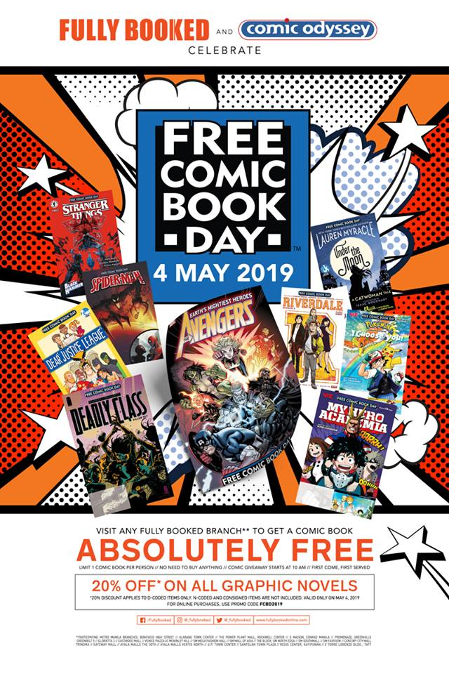 Fully Booked Is Giving Away Free Comic Books This May 4