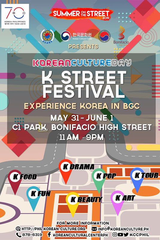 Experience Korea at the K-Street Festival Starting on May 31