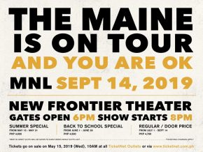 The Maine Is Back in Manila This September 14