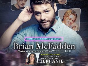 Westlife Singer Brian Mcfadden Holds His First Solo Concert in Manila and Davao @ New Frontier Theater