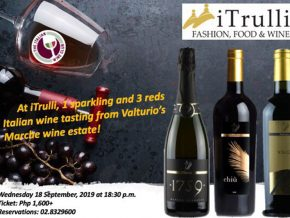 iTrulli Invites You to Valturio Wine Tasting Event on September 18