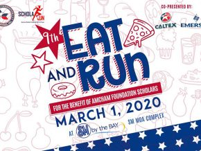Eat and Run at the 9th AmCham Foundation ScholaRUN in March 2020