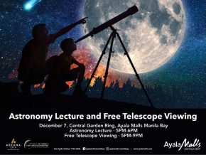 Gaze into Space with Astronomy Lecture and Free Telescope Viewing at Ayala Malls Manila Bay